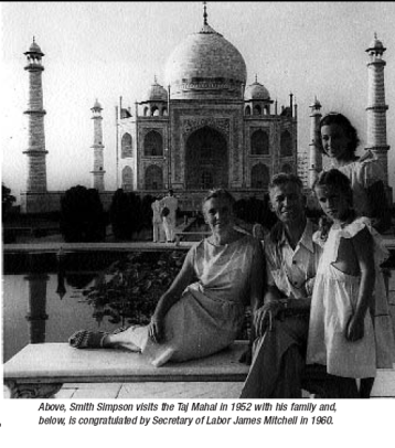 Photograph of Smith Simpson and Family in India, 1960